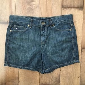 TOMMY HILFIGER DENIM SHORTS JEANS 8 COTTON